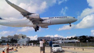 Photo of Watch: See What it's Like (From Cockpit) to Land an Air France A340 at Sint Maarten – SXM