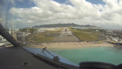 Photo of Watch: Maho Beach on Approach to Princess Juliana International Airport Before and After Irma