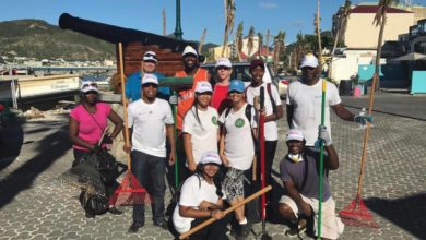 Photo of Rotary Club of Sint Maarten Helps Clean Up Philipsburg as Part of #SXMUNITE Campaign (Photos)